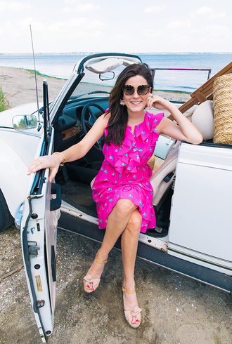 classy girls with pearls blogger dress bag shoes hat jewels pink dress ruffle dress sandals summer outfits tumblr midi dress sleeveless sleeveless dress summer dress sunglasses