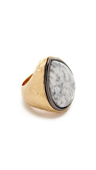 ring marble gold grey jewels