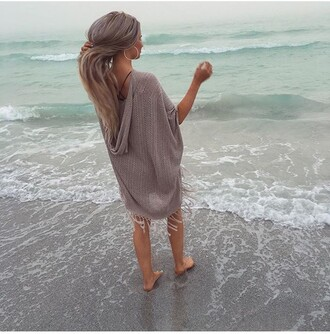cardigan cover up beach sea