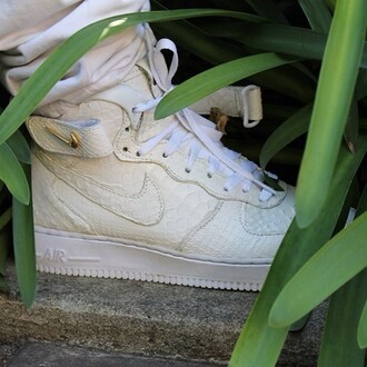 shoes nike python gold white sneakers