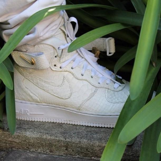 shoes nike python gold white sneakers nike white snake