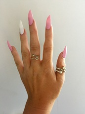 nail accessories,pale,pink,light pink,claws,nails,shellac,style,stiletto nails,pointy nails
