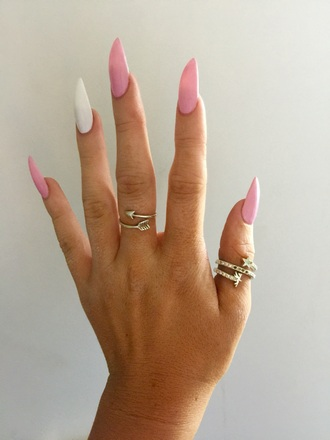 nail accessories pale pink light pink claws nails shellac style stiletto nails pointy nails