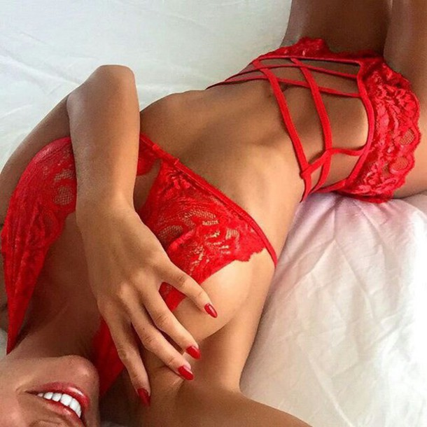 8034c553e51 underwear red lace red lace pants bra lingerie sexy fashion love red  lingerie firness fitspo