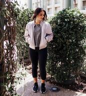 mint arrow,blogger,underwear,tank top,jacket,leggings,shoes,sneakers,bomber jacket,sportswear