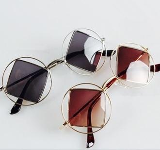 sunglasses loren beech baddies classy round sunglasses brown
