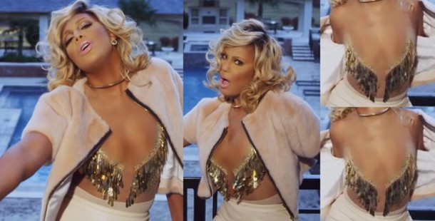 sheer sequins tamar braxton sexy gold sequins embellished blouse