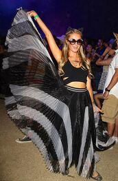 skirt,maxi skirt,paris hilton,coachella,festival,top,crop,crop tops