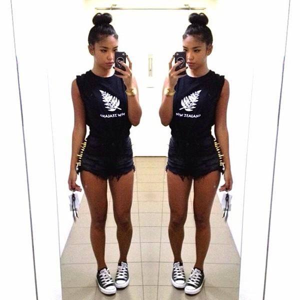 shirt tumblr black and white instagram shorts