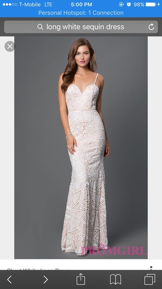 dress sequins whiteandnude prom dress mermaid prom promdresssparkly mermaid prom dress sequindress
