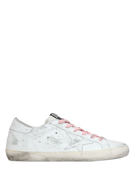 GOLDEN GOOSE DELUXE BRAND 20mm Superstar Embossed Leather Sneakers in white