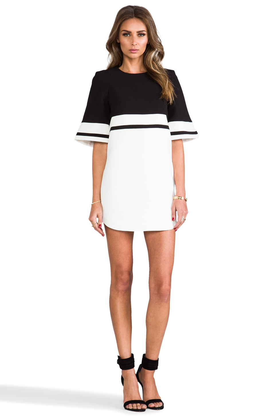 Cameo we are young dress in black/white from revolveclothing.com