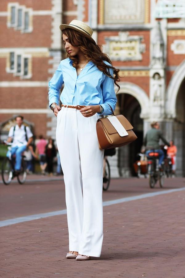 preppy fashionist blouse bag shoes