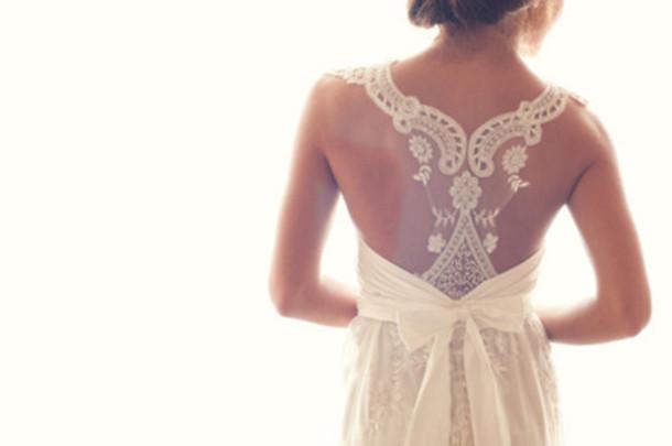 Dress Wedding Dress Lace Bow Prom Dress Hipster Wedding White Dress Wheretoget