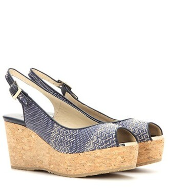 sandals wedge sandals blue shoes