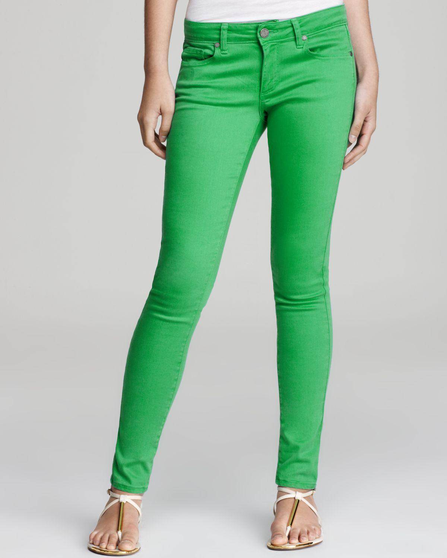 Paige Denim Jeans Verdugo Ultra Skinny In Kelly Green