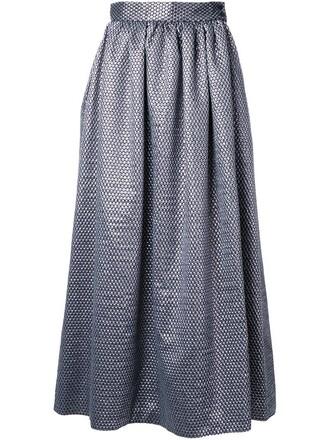 skirt women wool grey metallic
