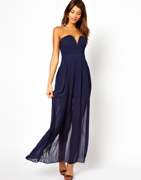 Tfnc maxi dress with plunge bustier at asos