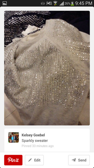 rhinestone sweater bling tan