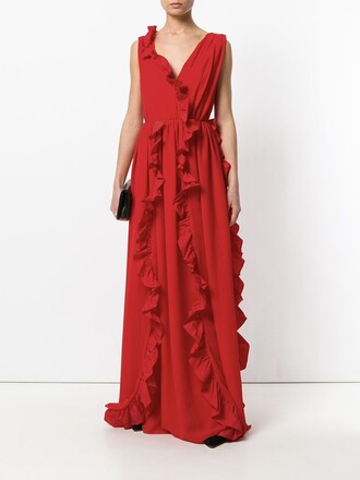 dress long dress long red