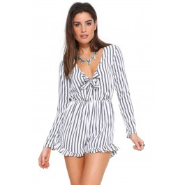 Addie stripe romper