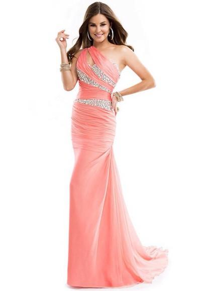 prom dress mermaid prom dresses pink dress glitter dress