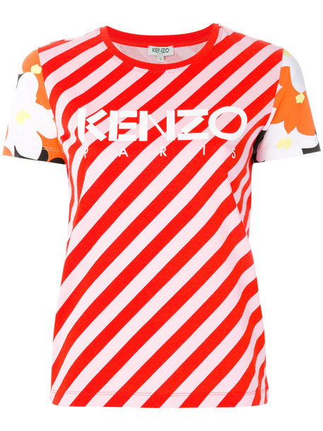 Kenzo t-shirt shirt t-shirt women cotton red top
