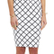 White/black bowie check pencil skirt : buy on sale now