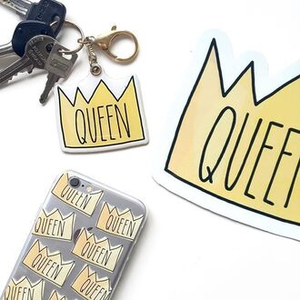 t-shirt yeah bunny queen crown tumblr keychain