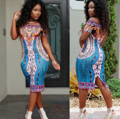 dress,dashiki dresses,african dress,traditional african,slash neck,sexy party dresses,midi dress,bodycon dress