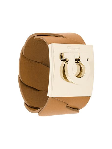Salvatore Ferragamo horseshoe motif bracelet - Brown