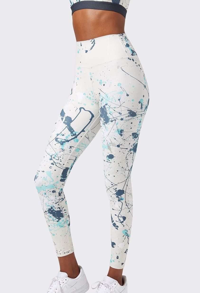 Kinney High Waist 7/8 Legging - Vintage White Paint