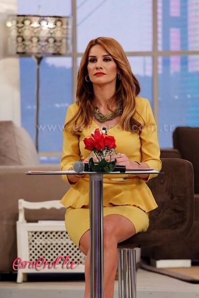 dress turkish show yellow esra erol collar