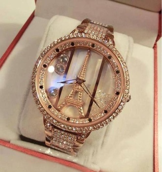 jewels eiffel tower jewelry crystal quartz watch watch colors vancaro