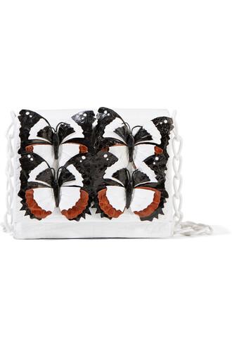 bag shoulder bag crocodile white brown