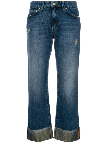 Department 5 jeans cropped jeans flare cropped women cotton blue