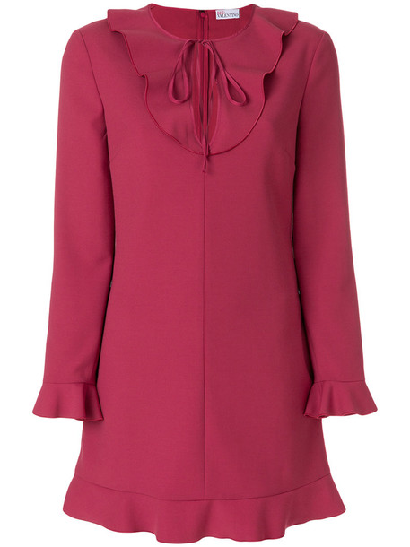RED VALENTINO dress women spandex purple pink