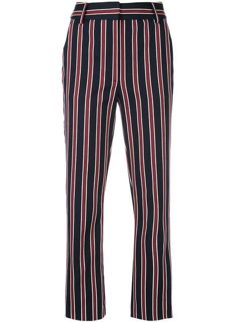 FRAME Striped Tailored Trousers - Farfetch