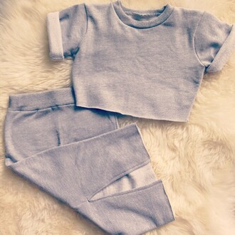 skirt high waisted crop tops cropped sweater high waisted & loose fitted croped fashion two-piece two-piece sweater grey blouse sweat skirt