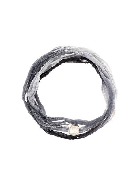 CHRISTIAN KOBAN women silver silk grey jewels