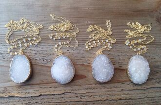 jewels necklace white jewels crystal quartz jewelry necklaces jewerly