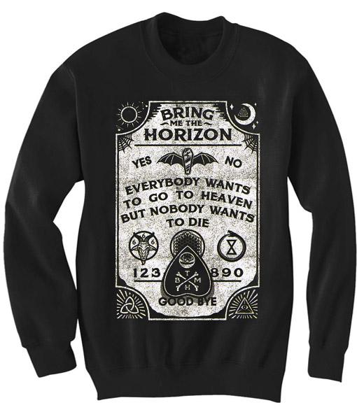 Bring Me The Horizon Lyrics Sweatshirt - Basic tees shop