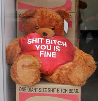 bag toy bear valentine's day gift ideas shit bitch teddy present