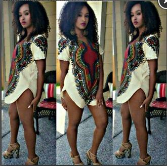 dress romper romperdress tribal pattern tribaldress tribalshorts