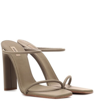 sandals leather sandals leather green shoes