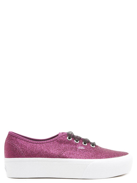 Vans 'authentic Glitter' Shoes in fuchsia