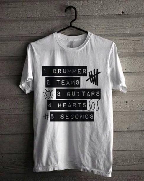 d9cd2fc13ac t-shirt team band t-shirt 5 seconds of summer 5 seconds of summer