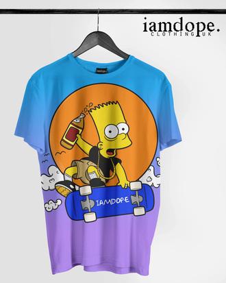 t-shirt bart simpson simpsons shorts 40's swag dope illustration hipster dope wishlist