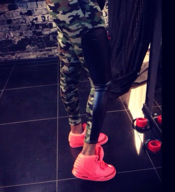 leggings camo pants leather leggings shoes