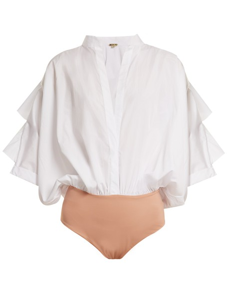 Johanna Ortiz bodysuit cotton white underwear